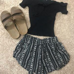 Black and White Forever 21 shorts